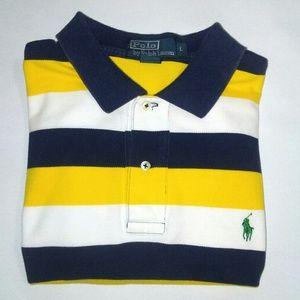 POLO by RALPH LAUREN Yellow/Blue Stripe Polo Large